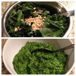 Kale Spinach Pesto